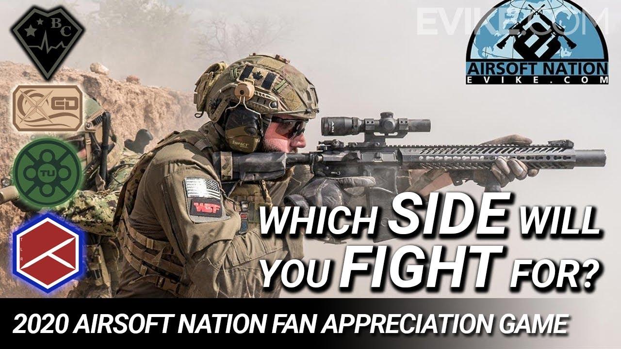 Pour quel camp allez-vous vous battre? Jeu d'appréciation des fans d'Airsoft Nation – 28 mars 2020 @ SC Village