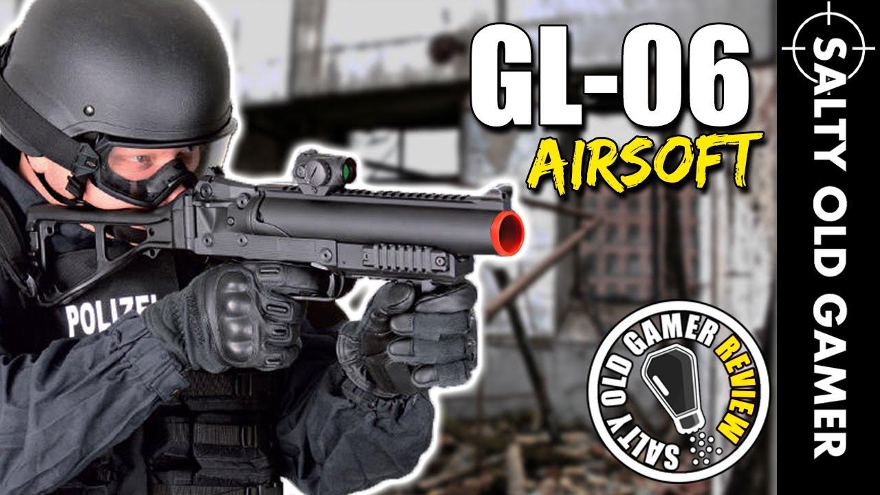 Lanceur de grenade Airsoft ASG B&T GL-06 | SaltyOldGamer Airsoft Review