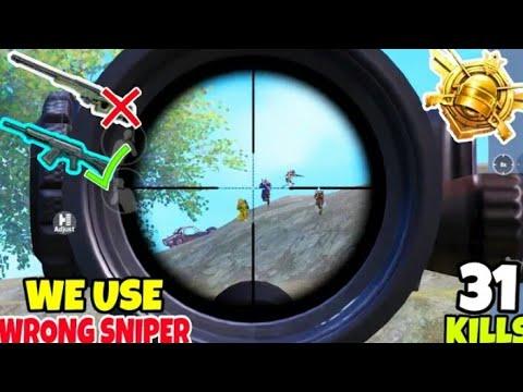 #pubg • steam Utilisation des mauvais pistolets comme SNIPER dans PUBG Mobile • (31 KILLS) • PUBG GAME (HINDI)
