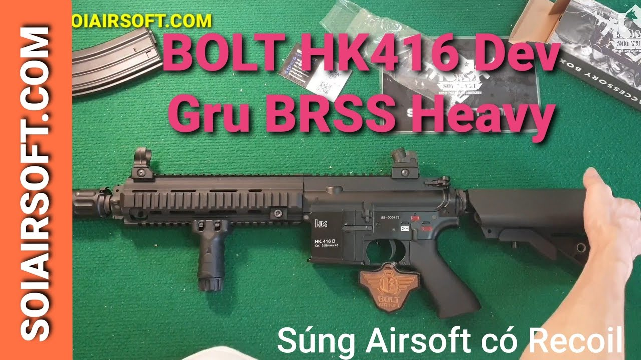 # SOIAIRSOFT.COM – BOLT HK416 Dev Gru Supressed BRSS Heavy EBB Airsoft Blowback Gun