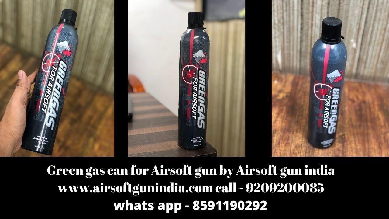 Bidon de gaz vert pour pistolet Airsoft par Airsoft Gun India