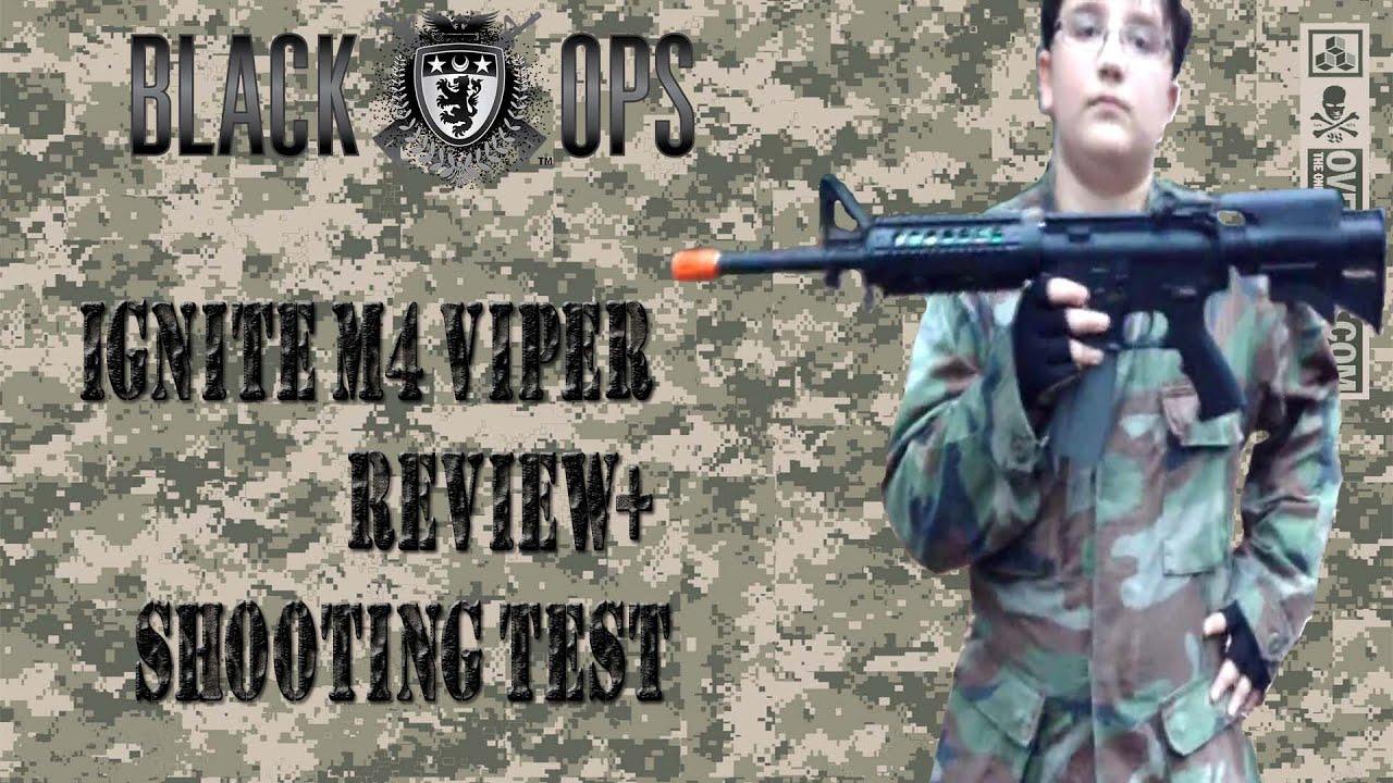 Airsoft Ignite / Black Ops M4 Viper Review + Test de tir