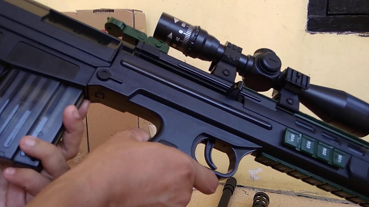 test & test Water Gel Blaster jouets QBU 88 à ressort alimenté converti en airsoft BB 6mm