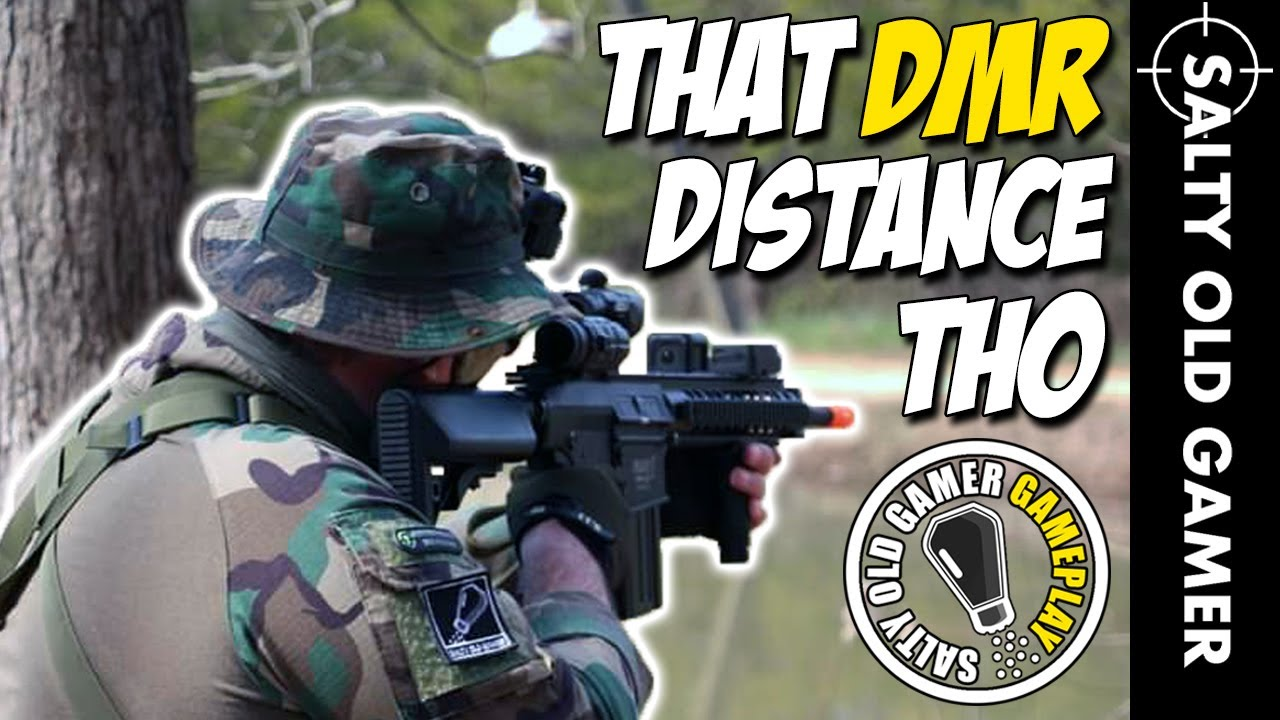 Airsoft DMR DISTANCE Gameplay | Tellement satisfaisant! | SaltyOldGamer Airsoft Gameplay