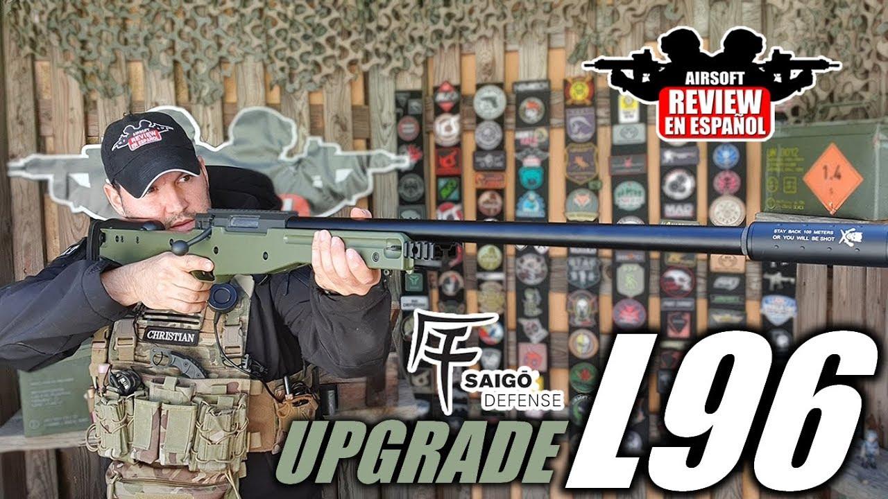 L96 SAIGO UPGRADE by VSGUN – Impact de 85 mètres 🎯 | Revue Airsoft en espagnol