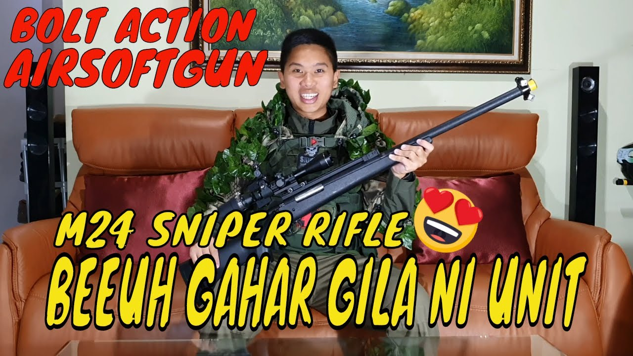M24 AIRSOFT SNIPER BOLT ACTION -REVIEW INDONESIA-