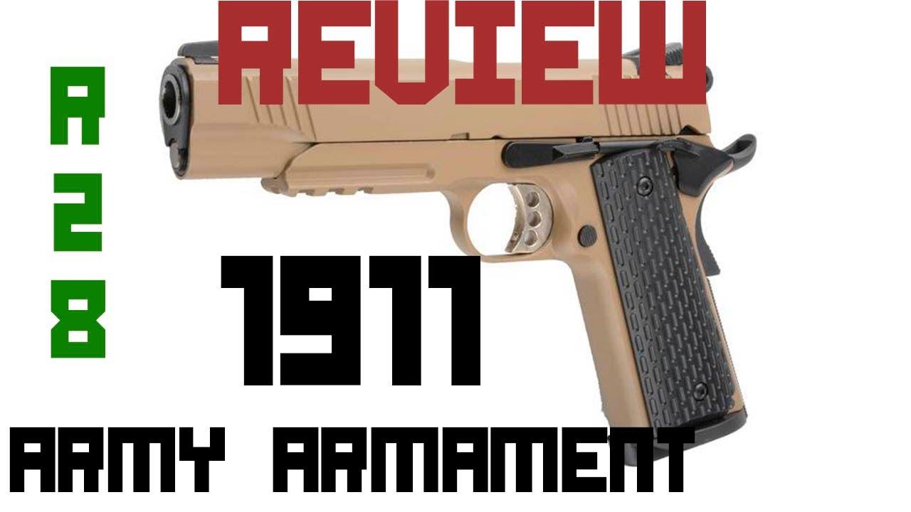 REVUE réplique 1911 R28 de ARMY ARMAMENT || Airsoft en espagnol