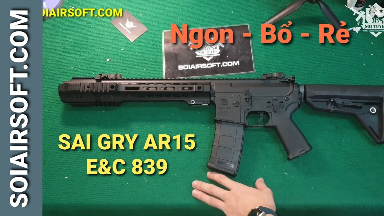 # SOIAIRSOFT.COM – Pistolets airsoft E&C SAI GRY AR15 (EC839) Delicious – Complémentaire – Bon marché