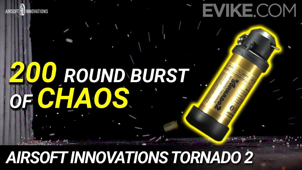 200 rafales rondes de CHAOS !! – Grenade à fragmentation Tornado 2 Airsoft Innovations