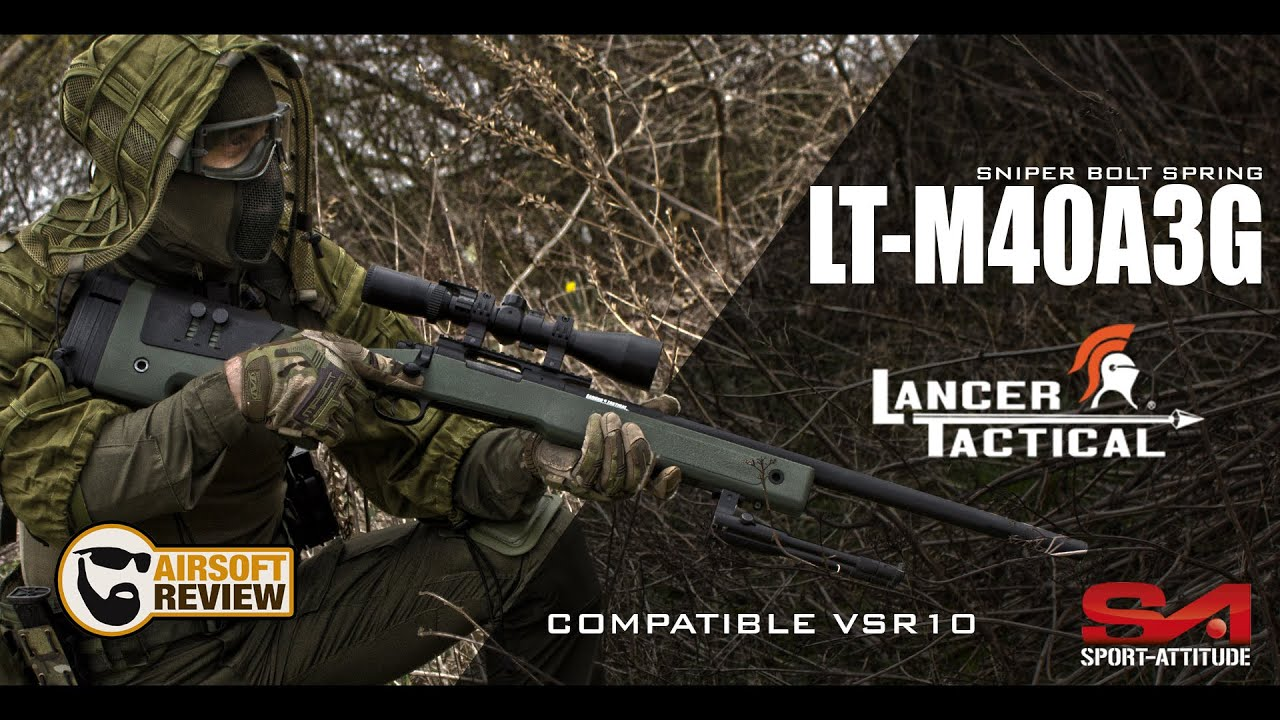 [FR] LT M40A3G SNIPER AIRSOFT / LANCER TACTICAL EUROPE / SPORT ATTITUDE # AIRSOFT REVIEW