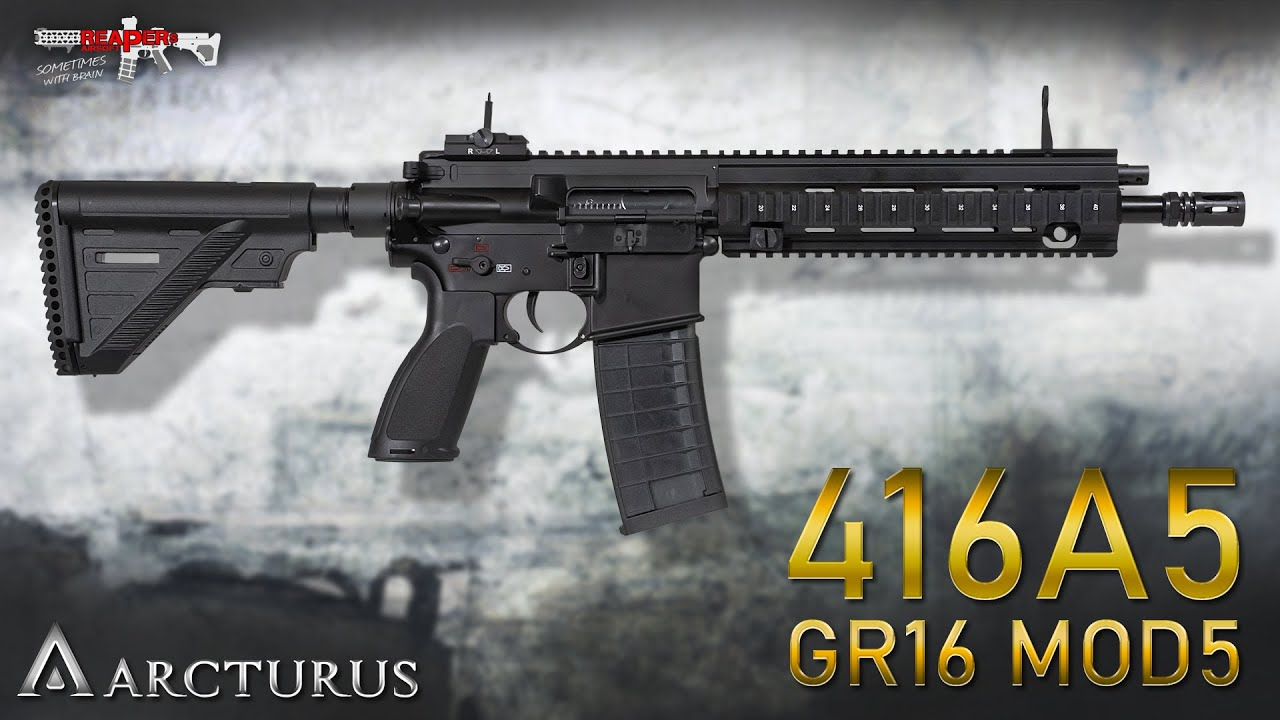 [Review] Arcturus 416A5 / GR16 MOD5 S-AEG – alternative au HK416? – 6 mm Airsoft / Softair (allemand, DE)