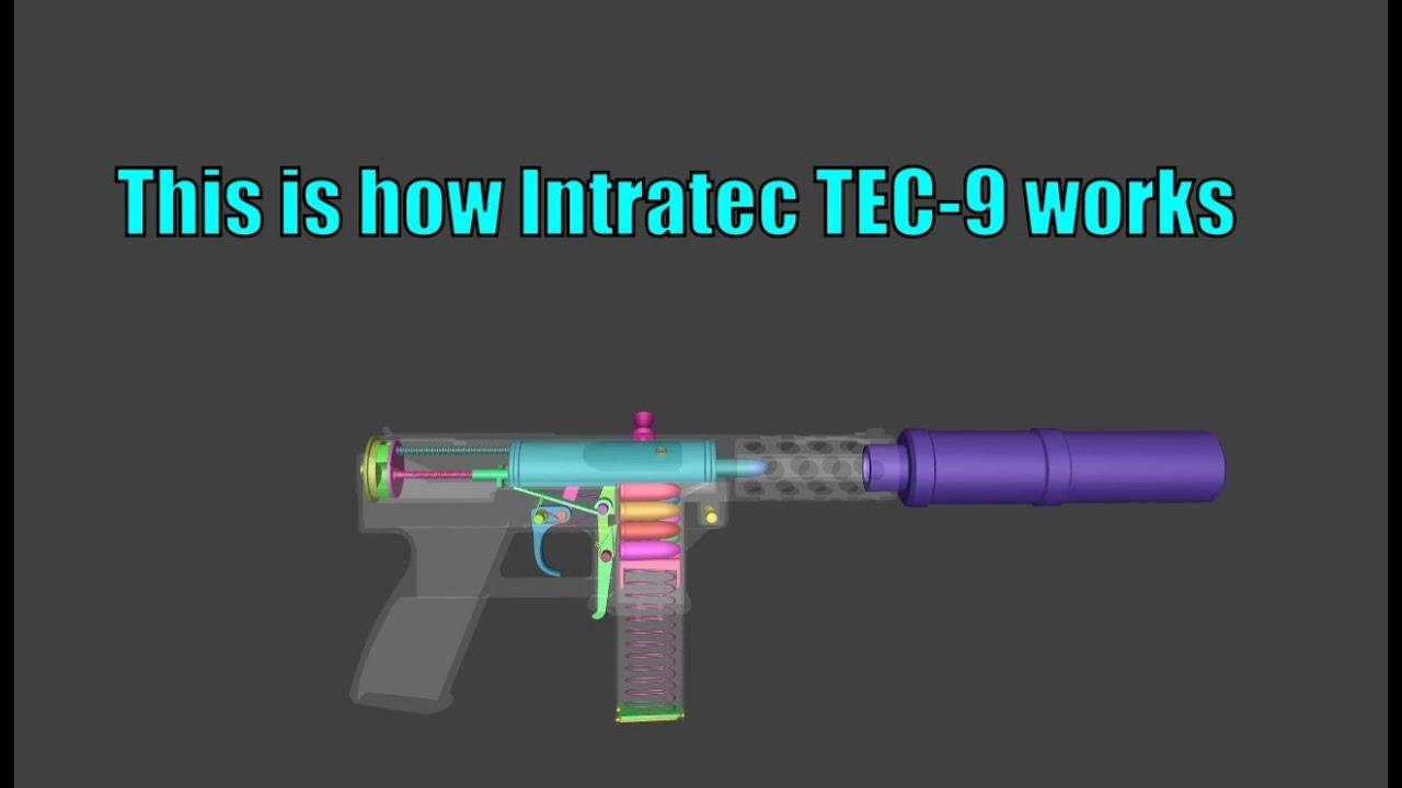 Voici comment fonctionne Intratec TEC-9 en 3D