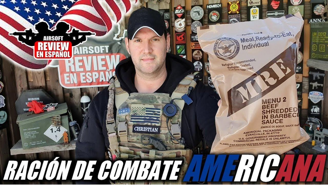 Test d'une ration de combat AMÉRICAINE 🇺🇲 – MRE | Revue Airsoft en espagnol