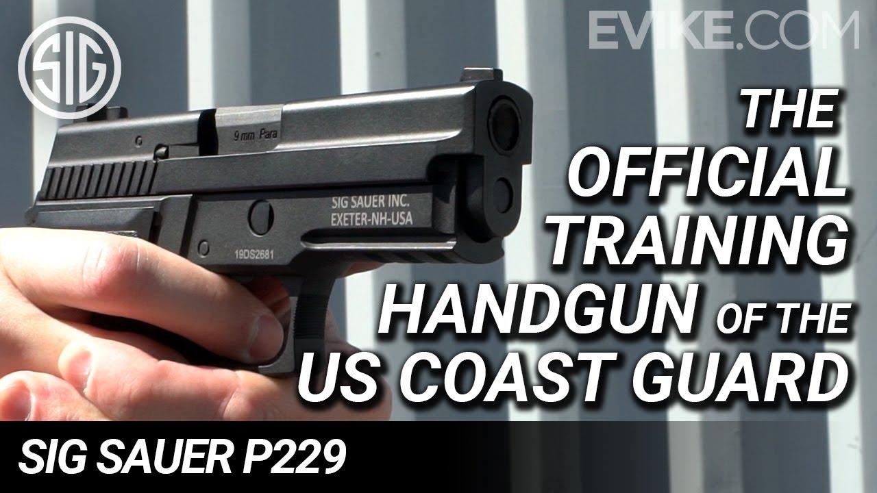 Arme de poing officielle de formation de la Garde côtière américaine – Pistolet GBS Airsoft Sig Sauer P229 – Examen