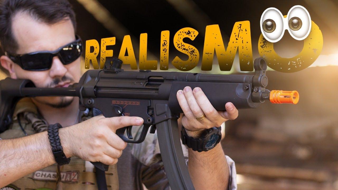 TEST DE REVUE CARABINE AIRSOFT AEG MP5 MB5 A5 FULL METAL AVEC BLOWBACK, BOLT