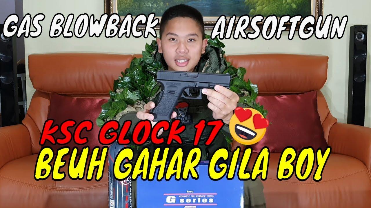 PISTOLET À AIR KSC GLOCK 17 -REVIEW INDONESIA-