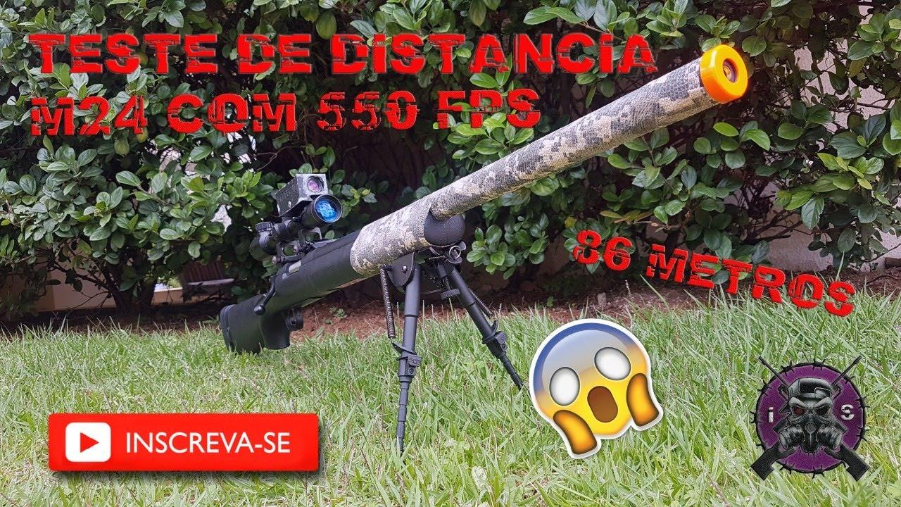 (RÉVISION) TEST DE DISTANCE AVEC MON M24 [ ICARO SNIPER AIRSOFT ]