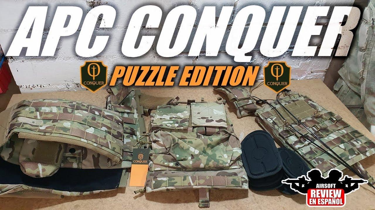 Comment assembler le gilet APC CONQUER – 🧩 Puzzle Edition 🧩 | Revue Airsoft en espagnol