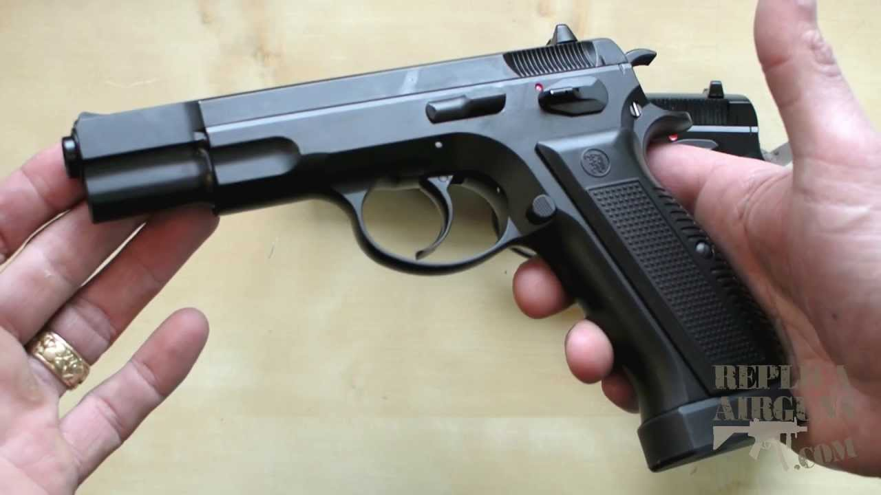ASG Marushin CZ 75 Blowback Shell Ejecting Airsoft Pistol Table Top Review