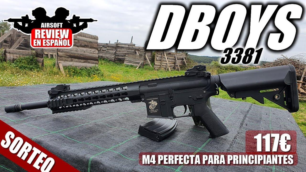 "Perfect M4 for BEGINNERS – DBOYS 10 ""3381 (Review & TestShot)   Critique Airsoft en espagnol"