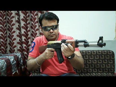 Pistolet jouet le plus réaliste // PUBG AK47 airsoft Assault Rifle & # 39; unboxing & Review