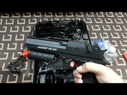 Pistolet jouet automatique Airsoft Gel Blaster DESERT EAGLE réaliste Déballage et examen