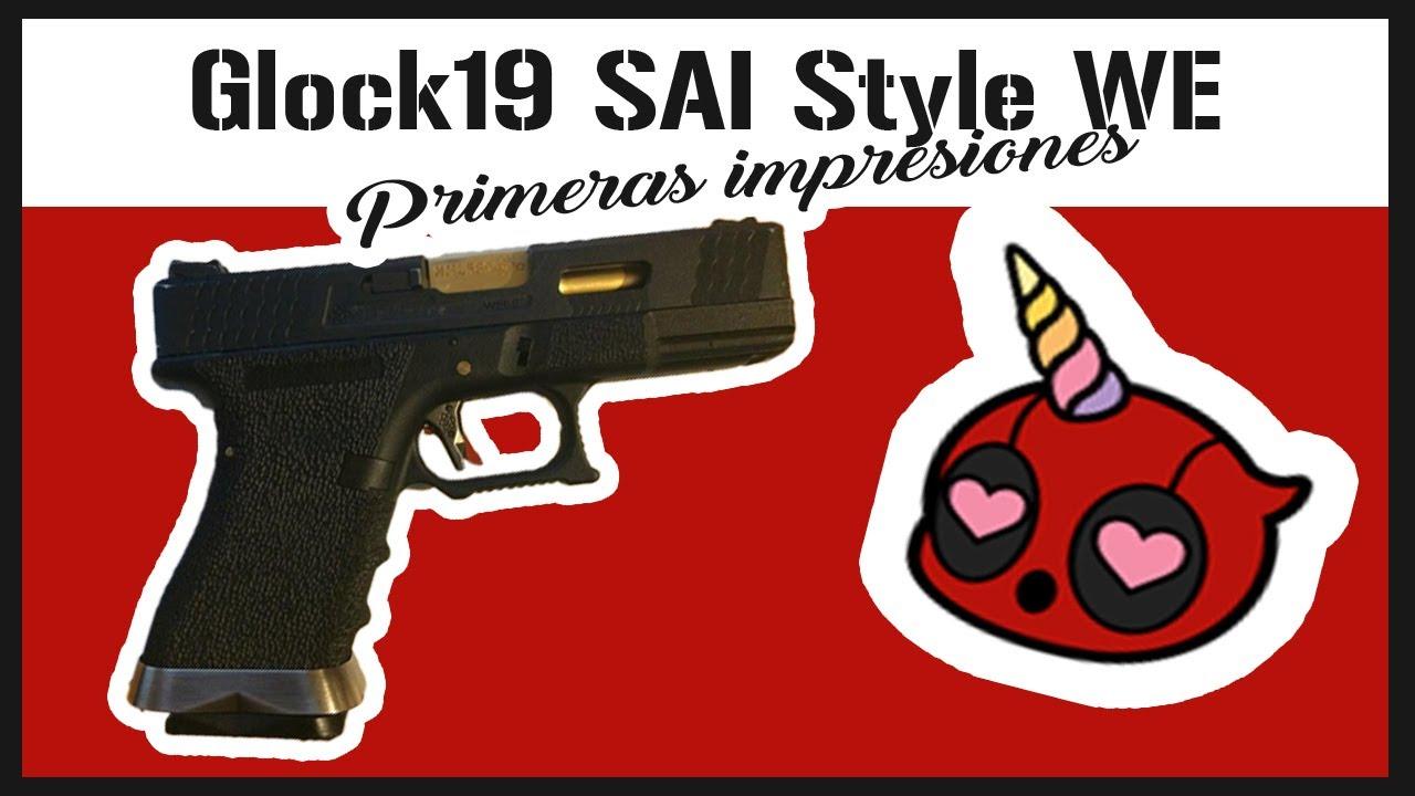 AVIS D'AIRSOFT – Pistolet Glock 19 T1 GBB   Pistolet Glock Sai   Nous tactique
