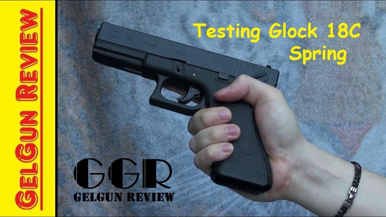 Test du ressort Glock 18C | Pistolet d'essai AirSoft Glock 18C