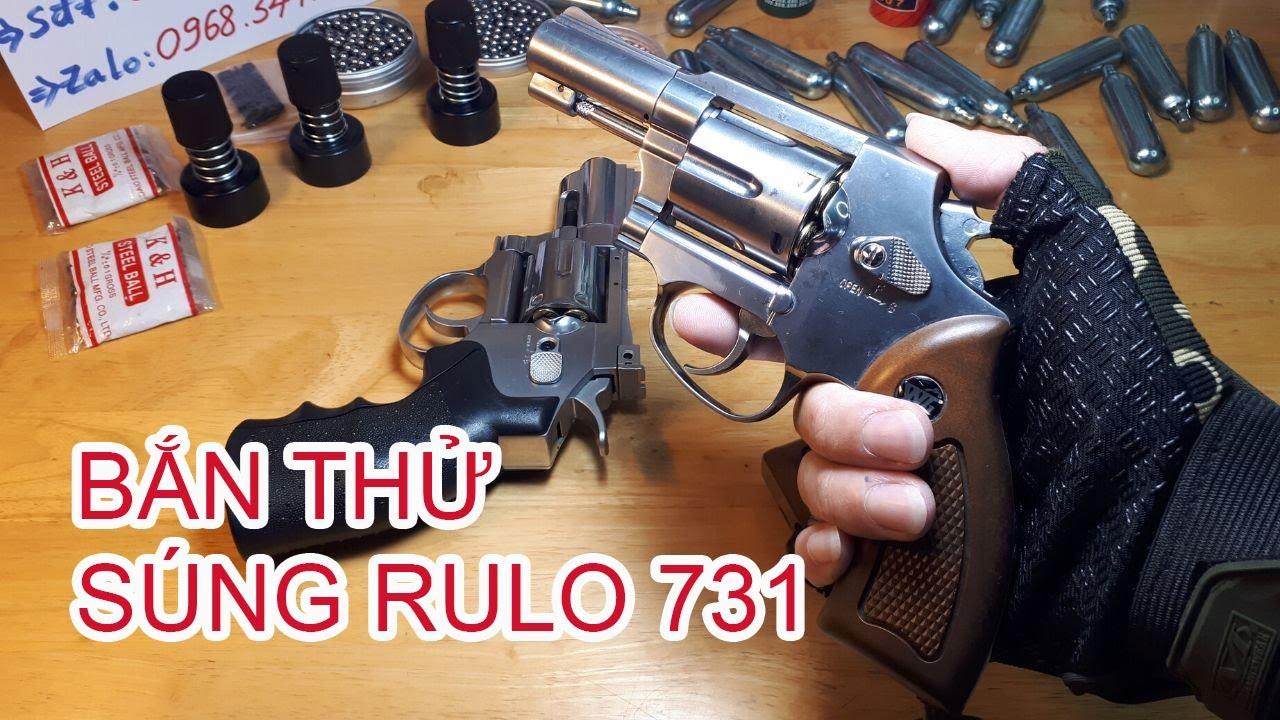 Test shot type fusil RULO731 utilisant des cylindres de CO2 voir comment la qualité?