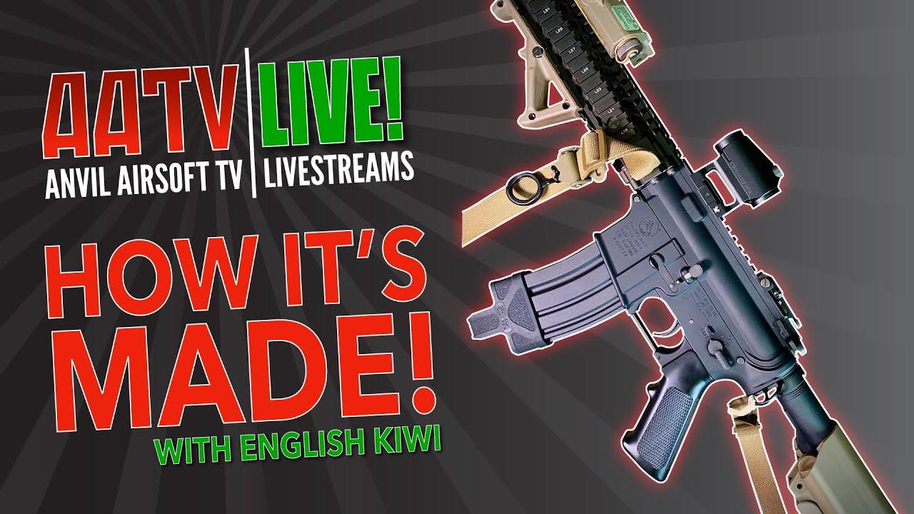 Comment sont fabriqués les pistolets Airsoft | Kiwi anglais | AATV Live! EP005