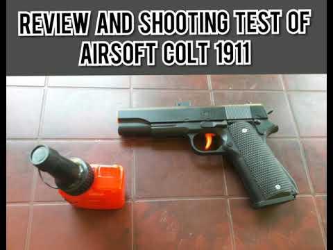 Test et tir de l'Airsoft Colt 1911