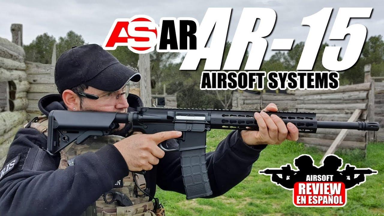 Un modèle porté au NEXT LEVEL 🔝! ASAR AR-15 d'Airsoft Systems   Revue Airsoft en espagnol