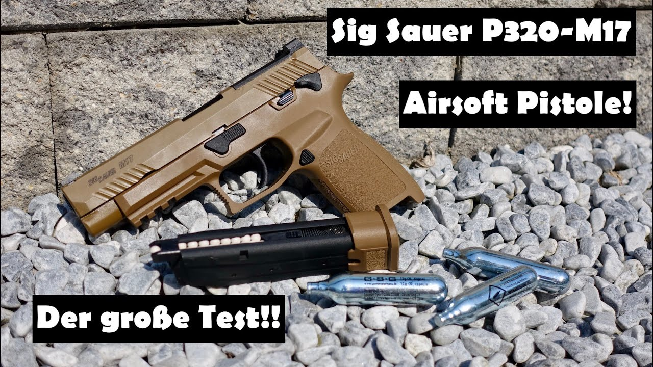 Pistolet AirSoft Sig Sauer P320-M17 – test et test