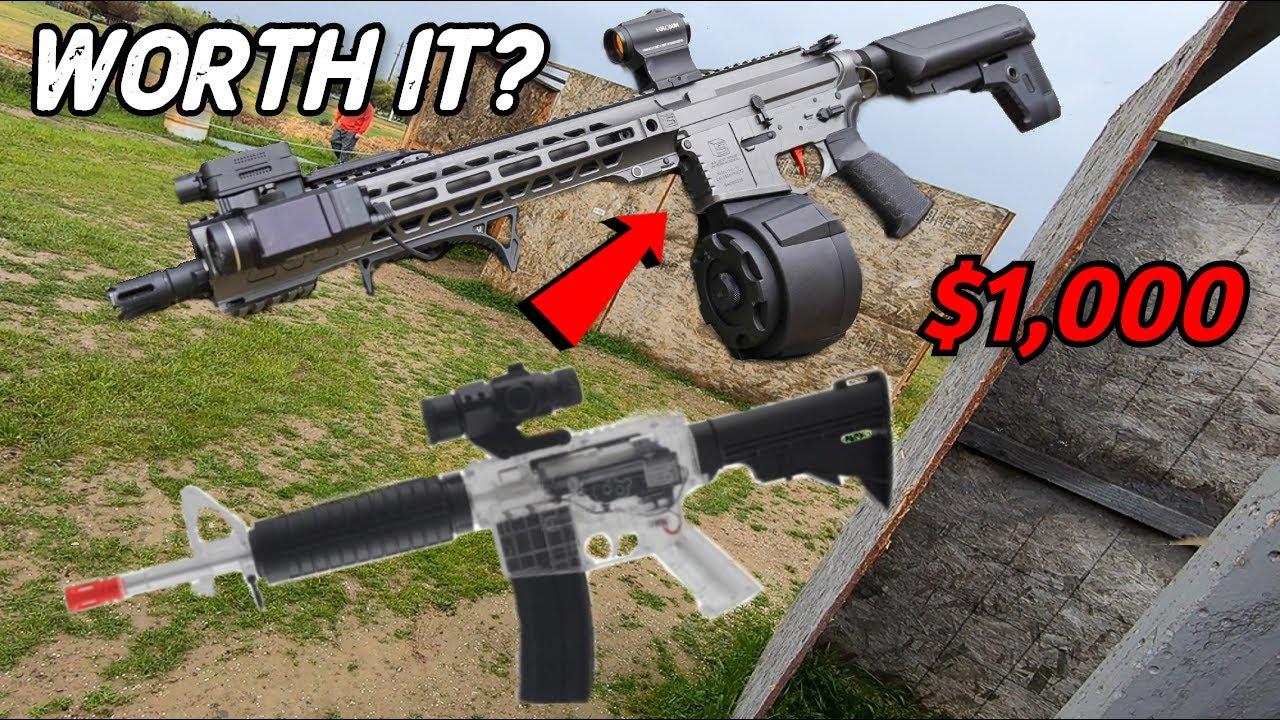 Vaut-il la peine de mettre à niveau votre pistolet Airsoft? Vs. cher Stock! * Airsoft War / Gameplay *