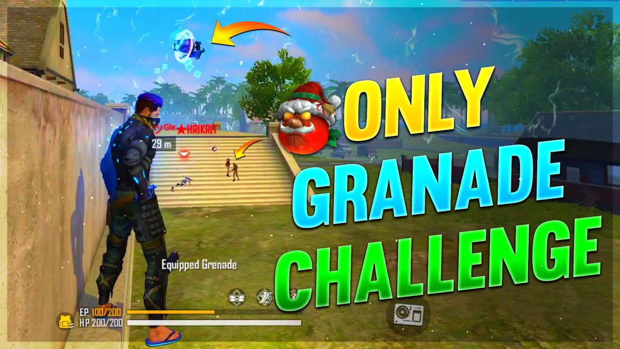 Puissance de grenade || Only Grenade Challenge || Clash Squad – Free Fire