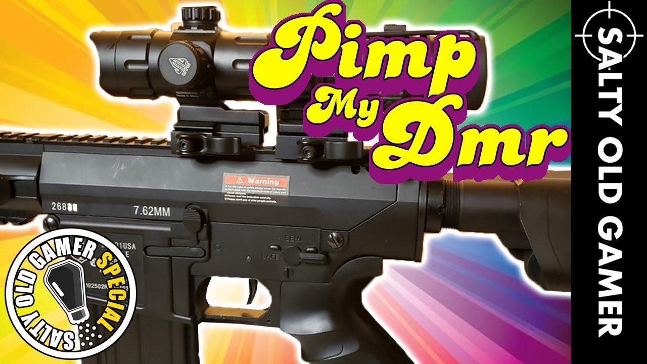 PIMP MY Airsoft DMR, Echo1 ER25k Mise à niveau complète | SaltyOldGamer Airsoft Special