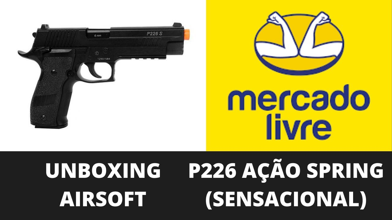 UNBOXING AIRSOFT SPRING P226 (SURREAL)