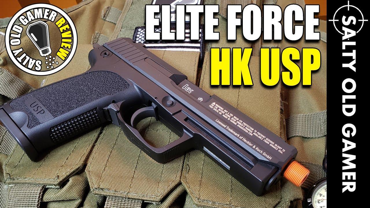 Pistolet Airsoft Elite Force H&K USP GBB | SaltyOldGamer Airsoft Review