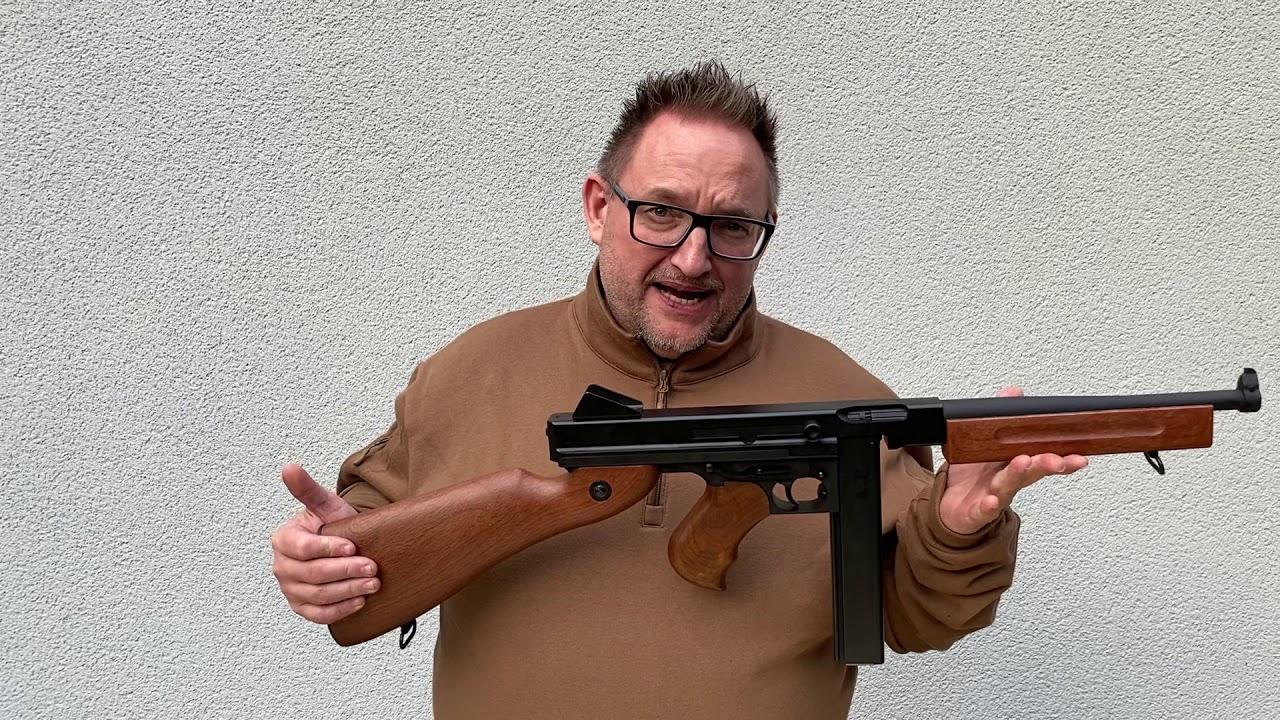 Snow Wolf Thompson M1A1 Review Softair.zone Airsoft unboxing deutsch german Schussest tutoriel