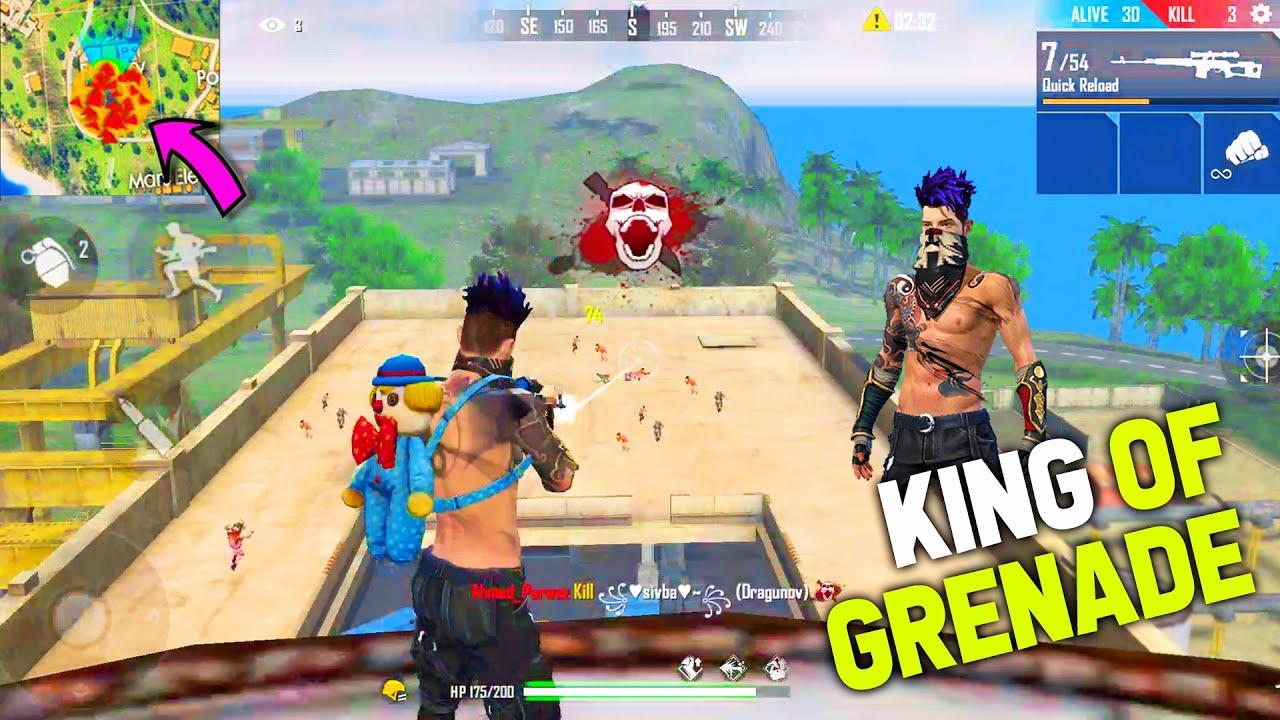 Grenade King en feu libre | 14 Kills Op Gameplay avec Grenade | Garena Free Fire – P.K. GAMERS