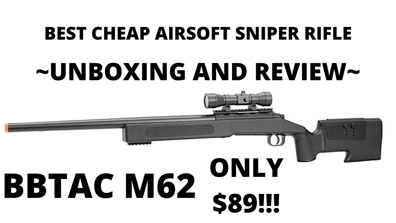 BBTAC M62 Airsoft Sniper Unboxing et examen