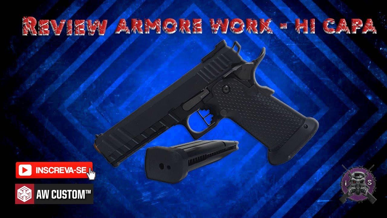 (REVUE) Pistolet Airsoft GBB Armore Work Hi-CAPA 1911 – HX2003 [ ICARO SNIPER ]