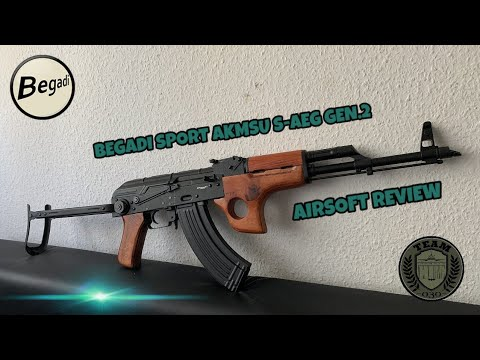 [REVIEW] BEGADI SPORT AKMSU CYMA CM.048SU AKM, AK47 Airsoft Review deutsch / german