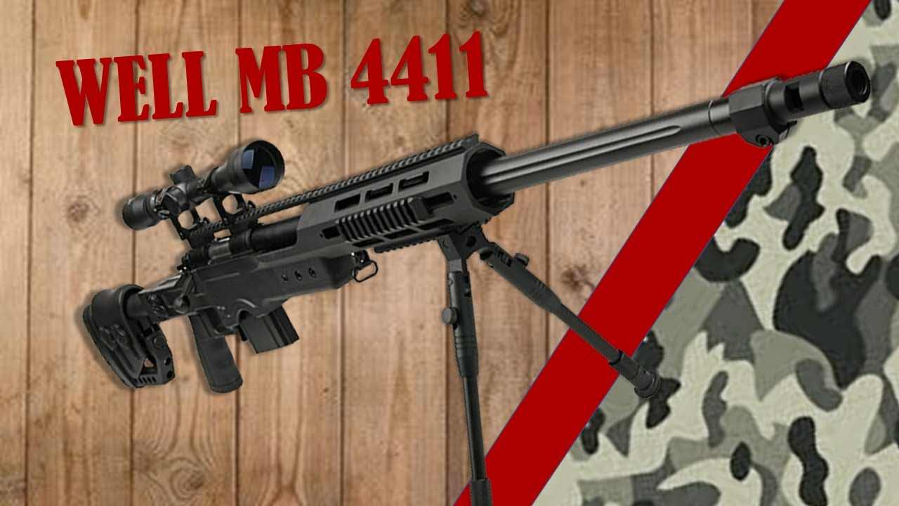 AIRSOFT REVIEW  MB 4411  WELL + DISASSEMBLY