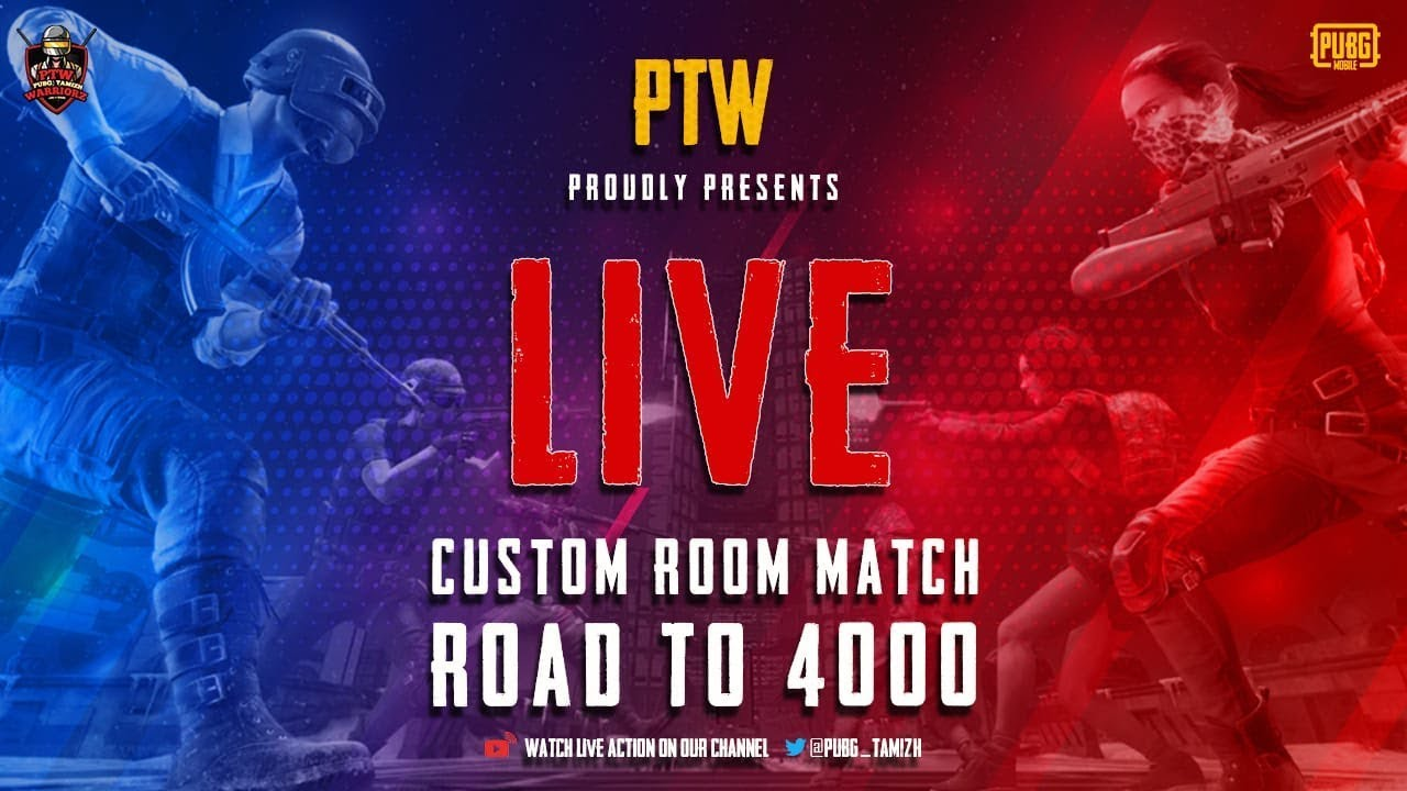 PTW Custom Room Match | Road to 4000 subs | Abonnement ouvert | PUBG Mobile Tamil