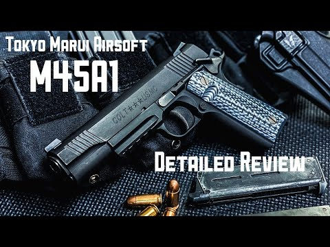 Tokyo Marui Gas blowback M45A1 Black Review (version anglaise)