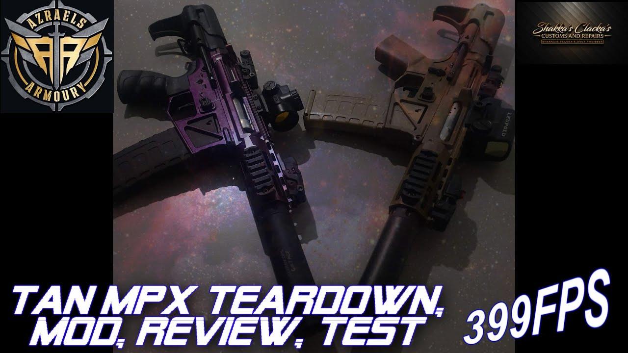 NOUVEAU TAN MPX 399 FPS GEL BLASTER TEARDOWN, REVUE, MOD ET TEST AVEC LA GAMME VIDEO!