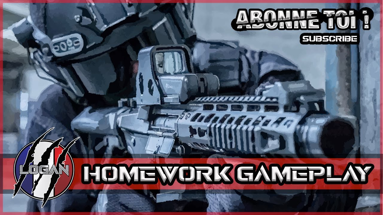 Homework Gameplay ✔ // Logan French Airsoft player // [Honey badger] ARES.