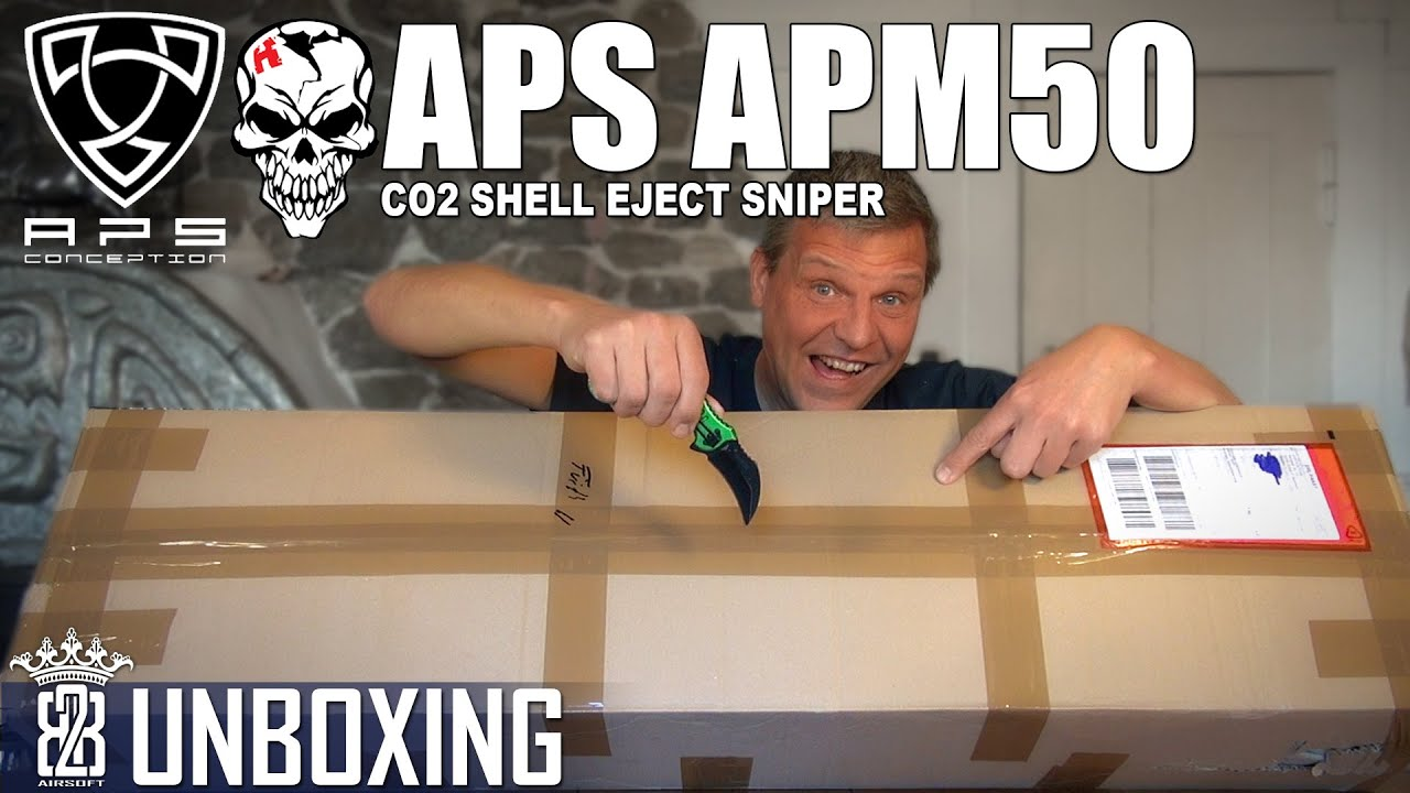 Unboxing APS APM50 Shell Ejecting CO2 Airsoft Sniper Rifle – Allemand
