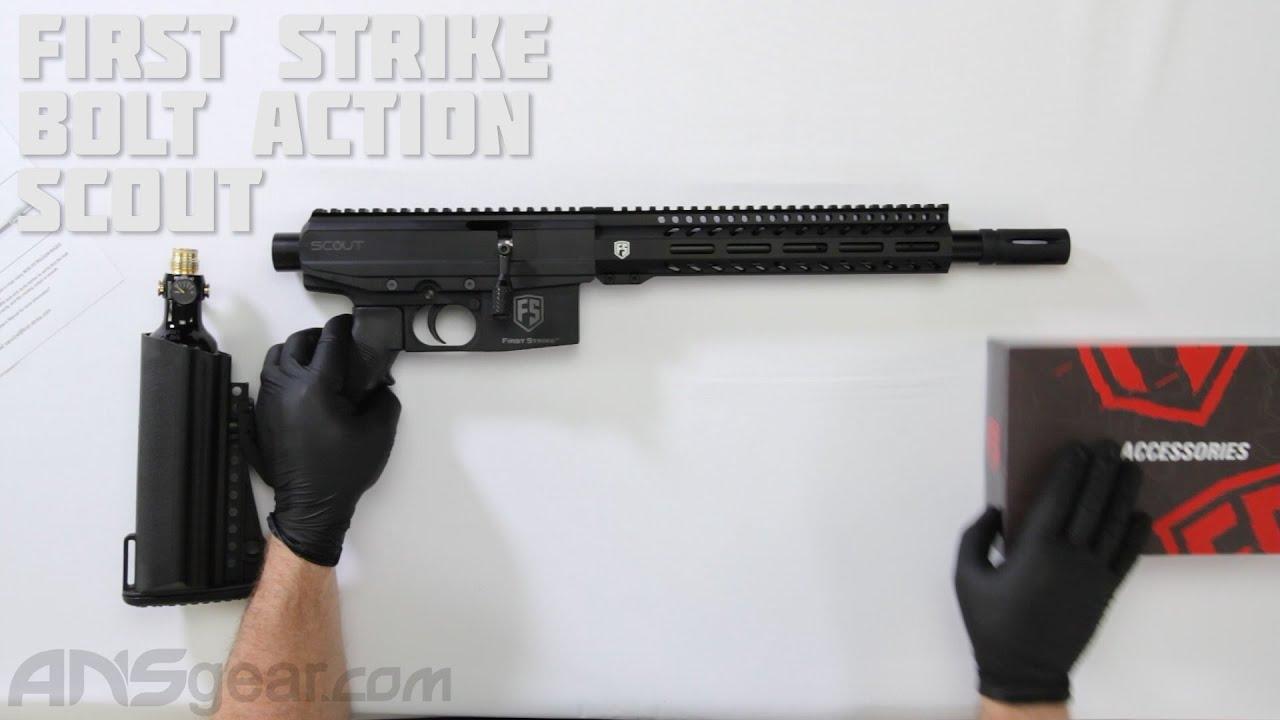 Pistolet de paintball First Strike Bolt Action Scout – Critique